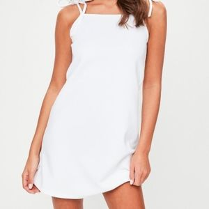 MISSGUIDED Tie Strap Cami Shift Dress NWT